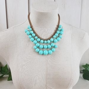 BRAZIL BEADS ON GOLDEN CHAIN - NECKLACE